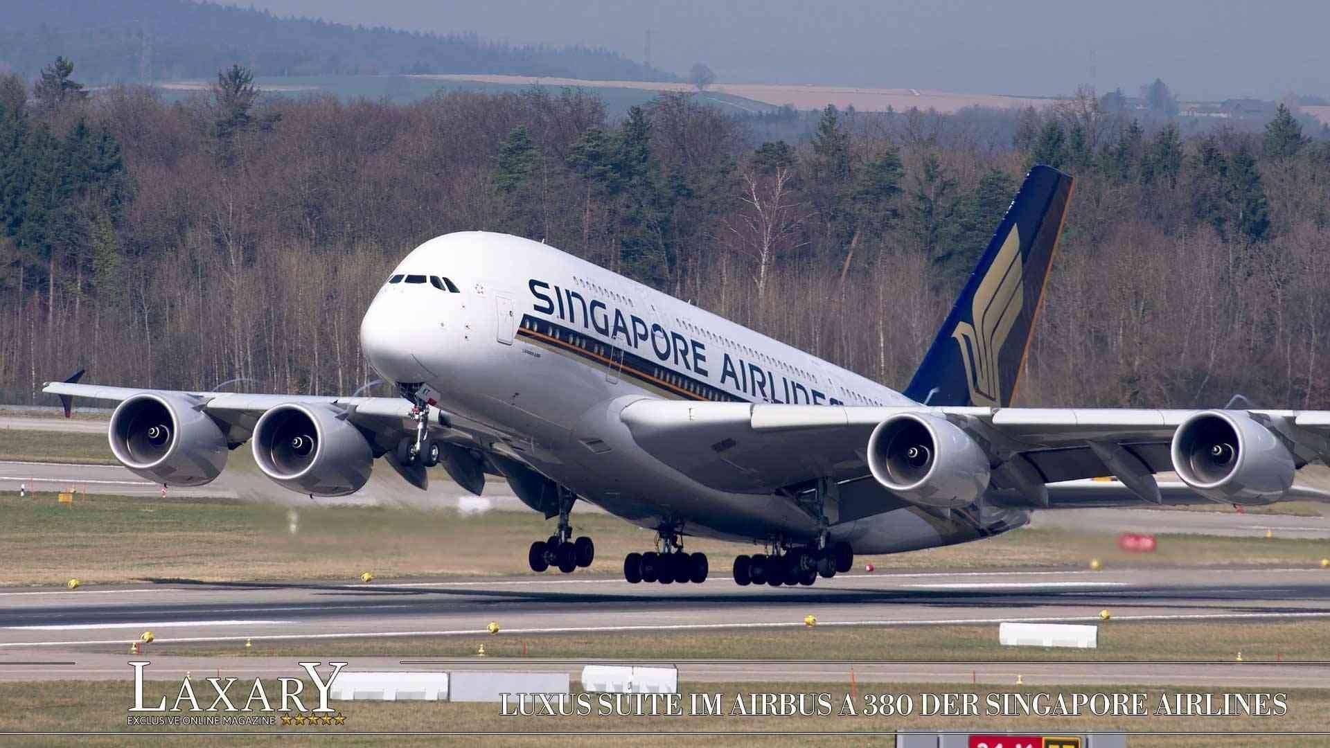 Fliegen in der Luxus Suite im Airbus A 380 der Singapore Airlines