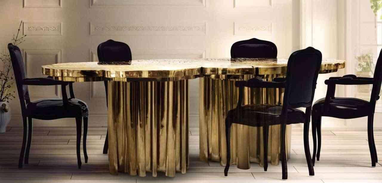 Esstisch Gold – Edler Designer Esstisch von Fortuna