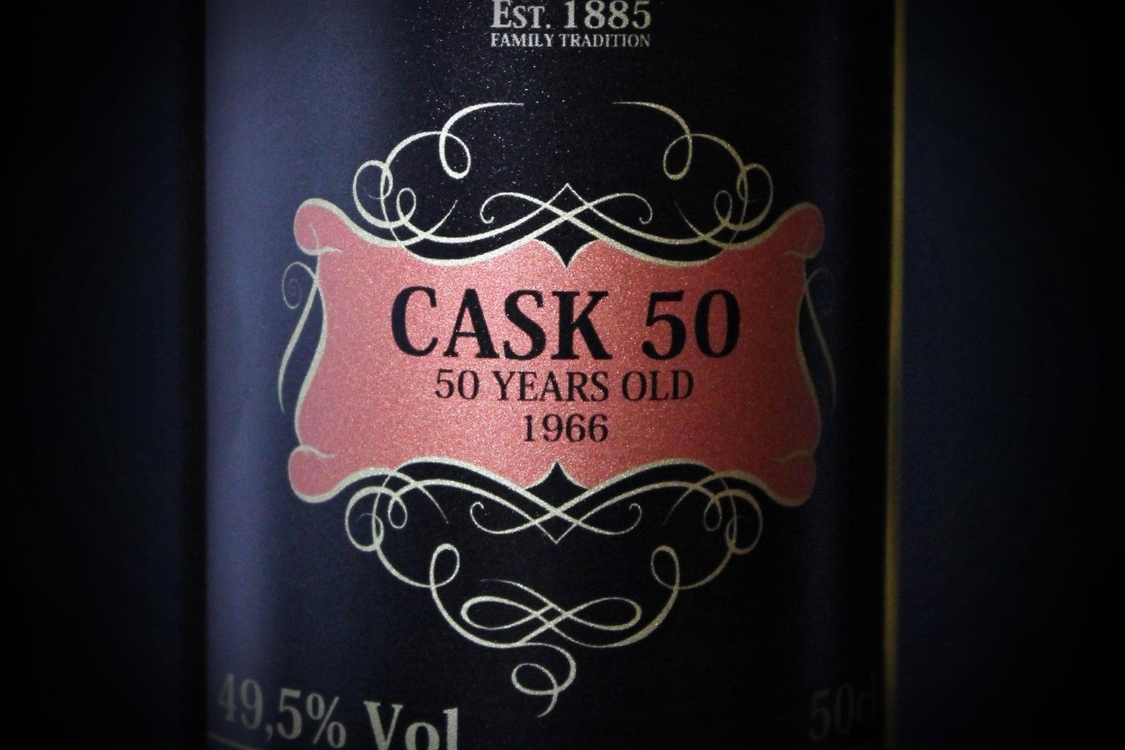 donatella whisky cask 50 label